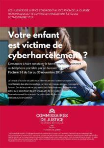 Constat pour victime harcèlement scolaire cyberharcèlement